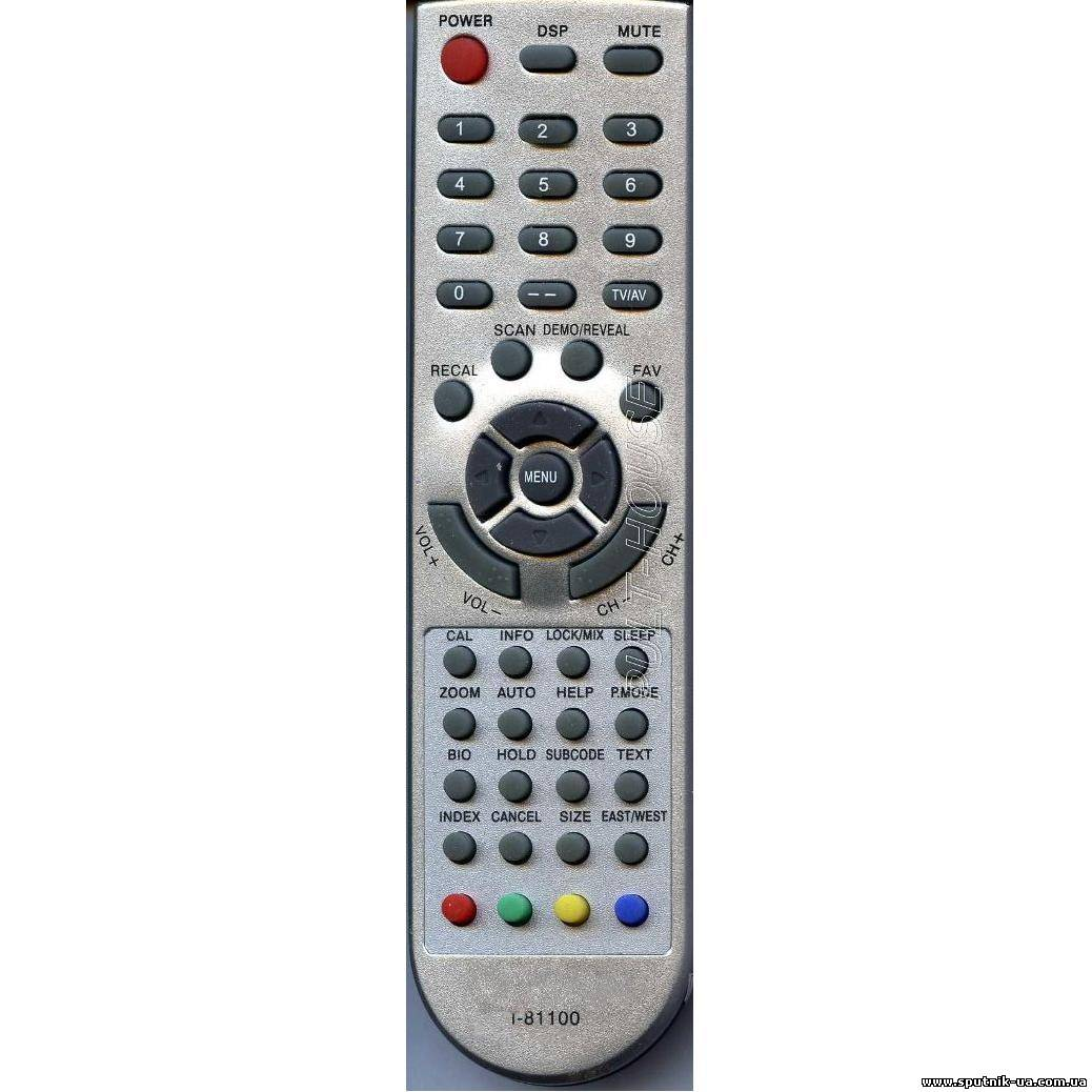 TV пульт  29-27 ELECTRON (DIGITAL, WEST, ALPARI) txt T-81 (SYS bF40/DAT 12/IC 6121Y)