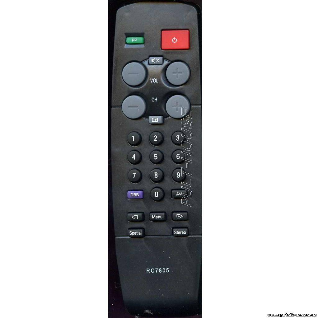 TV пульт  12-11  PHILIPS RC-7805 (SYS C0/D 0С/F 3010)