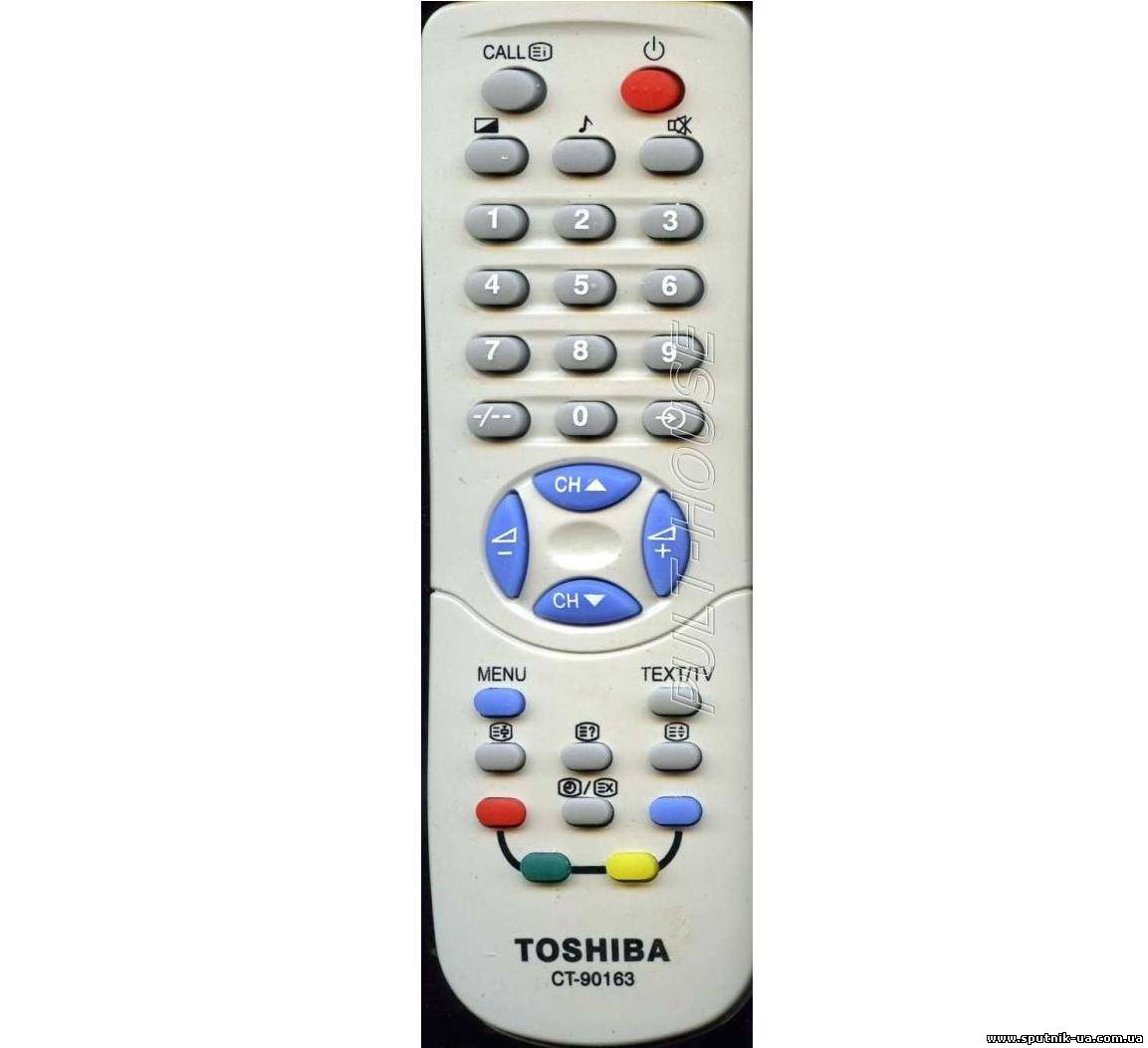 TV пульт  20-31  TOSHIBA CT-90163 (SYS bF40/DATA 12/FOR 6121Y)